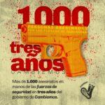 Mil asesinatos en 3 años Cambiemos